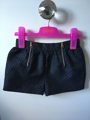 Baker By Ted Baker Girls Formal Shorts With Rose Gold Dots And Zips 4-5 Yrs