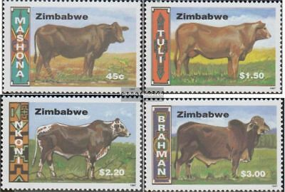 Never Hinged 1997 Endangered Zimbabwe 593-598 complete.issue. Unmounted Mint