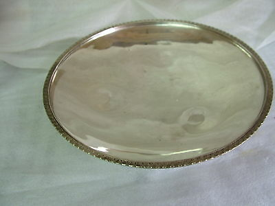 OAY Kervancioglu Turkey? Silver Plated Footed BOWL 11.6inDia670gms