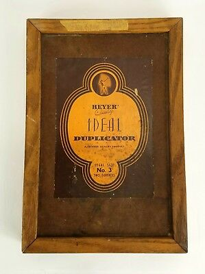 Heyer Ideal Duplicator early version of mimeograph made in the USA