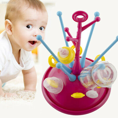 6F10 Baby Holder Glass Drying Rack Deluxe 3 Colors Plastic Dishwashers Cleaning