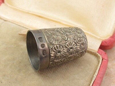 Vintage Sterling Silver 925 Victorian Thimble