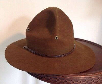 Vintage STETSON Boy Scouts Of America SCOUT MASTER Leader Hat Size 7 1/4 BSA