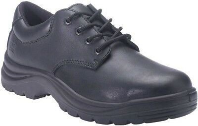 NEW King Gee Mens Wentworth Leather Safety Work Shoes Steel Toe Capped Black