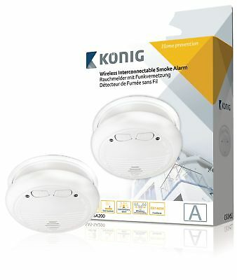 Konig SAS-SA200 Connectable Smoke Detector EN14604 433 MHz