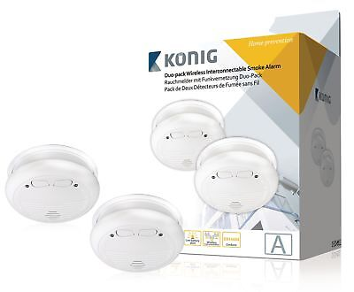 Konig SAS-SA2002 Connectable Smoke Detector EN14604 433 MHz
