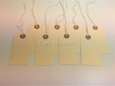 Luggage Tags Hardware Labels Manila Cream Large Strung Tags - various sizes