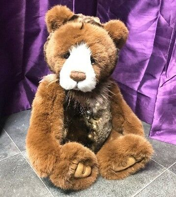 Manufactured Dolls & Bears Grizwald ~ Stunning Plush Bear By Charlie Bears ~ Such A Sweet Face!!