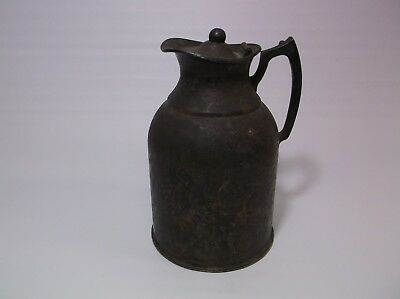 Nickel Silver Plated Insulated Jug Nice Very Patina Barn Find Decorative Antique
