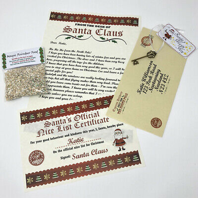 Christmas Eve Box Fillers - Reindeer Food Personalised Xmas Letter & Certificate