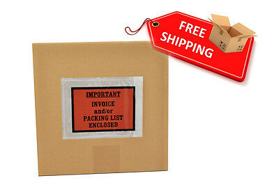 "Important Invoice/Packing List Enclosed Envelopes 4.5"" x 5.5"" Full Face 2000 Pcs"