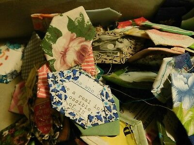 vintage patchwork hexagons and coffin shaped pieces package G