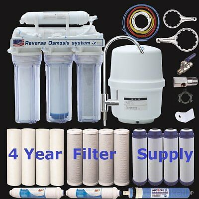 5 Stage Reverse Osmosis Drinking Water System RO Home Purifier 15 TOTAL FILTER S