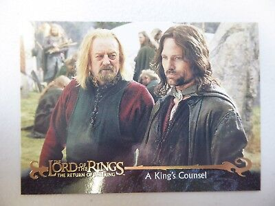 TOPPS Card : LOTR The Return Of The King  #43 A KING'S COUNSEL