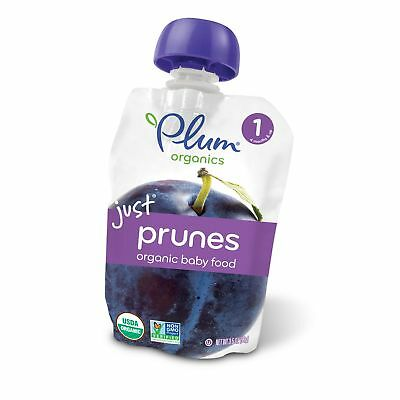 Plum Organics Stage 1, Organic Baby Food, Just Prunes, 3.5 ounce pouch (Pack ...