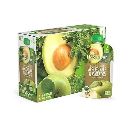 Happy Baby Organic Clearly Crafted Stage 2 Baby Food Apples Kale & Avocados, ...