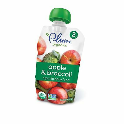Plum Organics Stage 2, Organic Baby Food, Apple and Broccoli, 4 ounce pouch, ...
