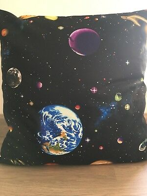 """Planets on Black 16"""" x 16"""" Square Cushion Cover 100% Cotton"""