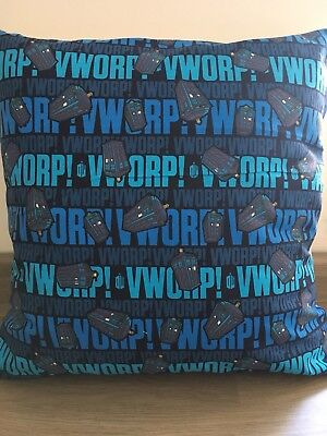 "Dr Who at Warp Speed! 16"" x 16"" Square Cushion Cover 100% Cotton"