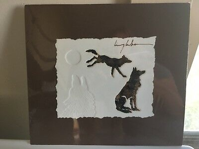 King Kuka With One Robe Signed Embossed Wolf Print Native American Art