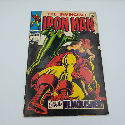 Iron Man #2 Silver Age Marvel Comics 1st Appearance of the Demolisher G