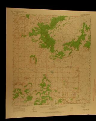 White Cone Arizona 1968 vintage USGS Topographical chart map