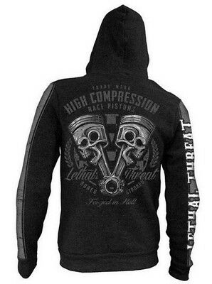 Lethal Threat High Compression Mens Zip Up Hoody Black XL
