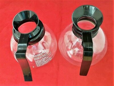 Commercial Glass Coffee Pot Carafe 12 Cup Regular (Lot of  2 - 1 New, 1 Used)
