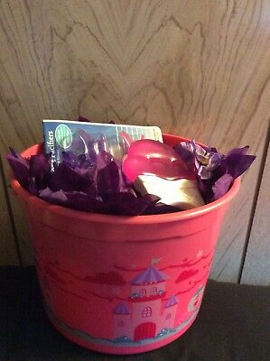 Baby Girl-Shower Gift Bucket With 12- Strawberry Pattern Diapers Size 3