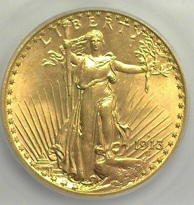1913-D Saint Gold $20 Icg Ms65  Rare Date!  Lists At $5600