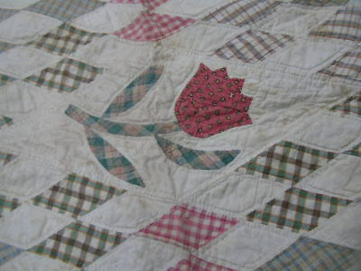 Two ANTIQUE Handmade   SMALL SIZE COTTON QUILTS  1890s 1900s CHILD or DOLLS