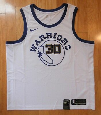 newest collection d1ec6 25769 NIKE STEPHEN CURRY Hardwood Classic Swingman Jersey Size 2XL 904152-100