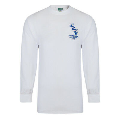 Leeds United AFC Official Mens 1972 FA Cup Final Long Sleeve Retro Kit Shirt