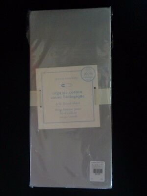 Pottery barn KIDS ORGANIC COTTON CRIB FITTED SHEET-GRAY  -NEW W/ TAGS-