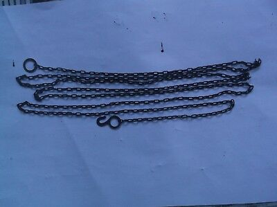 A STEEL CHAIN FROM AN OLD CUCKOO CLOCK 71 INCH LONG 62 LINCS TO THE FT  ref 901