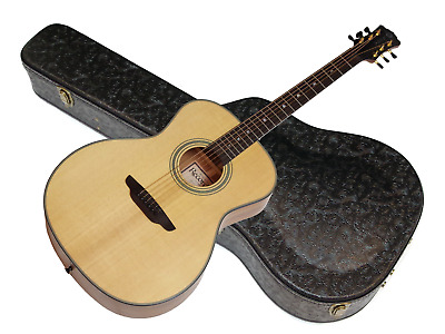 Luna Artist Recorder All Solid Wood Dreadnought acoustic guitar w/Hard Case NEW