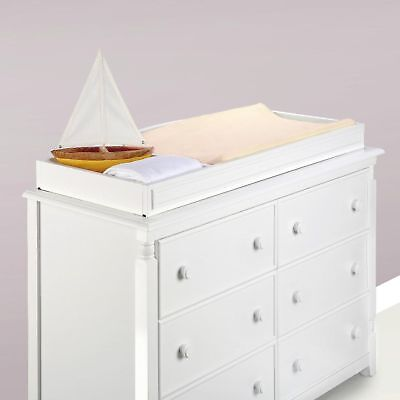 Eco Chic Baby Kennedy Changing Table Topper - Pure White