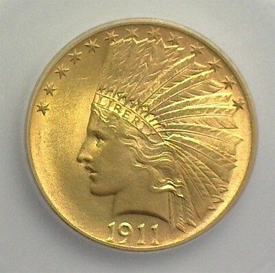 1911 Indian  Head Gold $10 Icg Ms65   Looks 66 Rare Gem   Lists For $7500