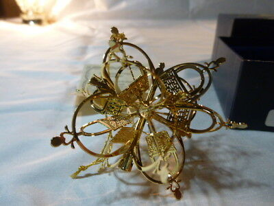 24kt.gold finish Longaberger  Snowflake Basket ornament 14811  Christmas