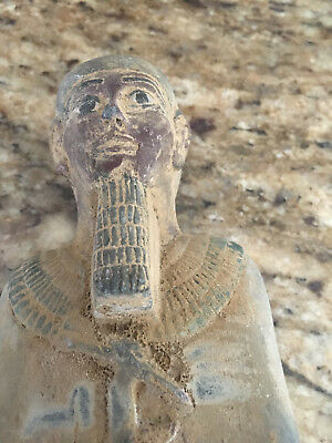 Very Old Egyptian Antiques Ancient Art Pharaohs Statues 12 X 2.50  X 2 Inch