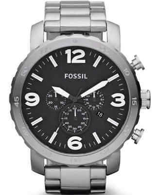 141a92cbbed Fossil Nate Black Dial Stainless Steel Chronograph Quartz Men s Watch JR1353