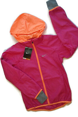 Nike Jacket Girls Pink & Orange Breathable Athletic Youth Small 8/10 [a1805]