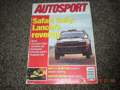 Motor Sport Magazine Autosport 4 Apr 1991 F1 Benetton Safari Rally Thruxton BTCC