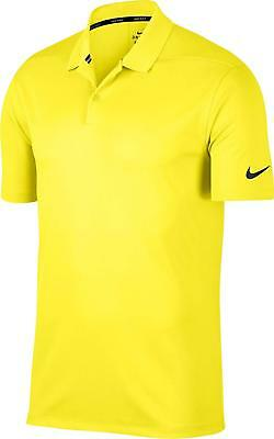 8a3e7dfbe NIKE MEN S DRY Victory Solid Polo Golf Shirt - Yellow -  49.99 ...