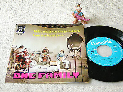 """ONE FAMILY Why Must We Say Goodbye AUSTRIA 7""""+PS COLUMBIA AUSTROPOP POPSIKE"""