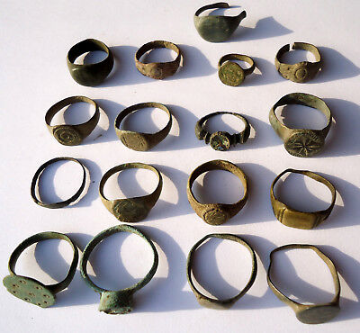 Lot 17 unclean Roman and Byzantine bronze rings