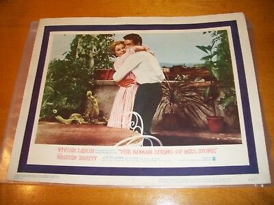 The Roman Spring Of Mrs. Stone Lobby Card Vivien Leigh & Warren Beatty