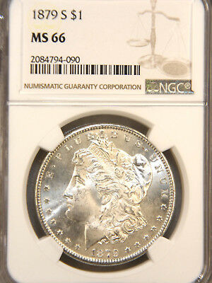 1879 S Morgan Silver Dollar NGC MS66 Blast White with Superb Luster #84H