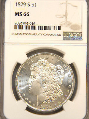 1879 S Morgan Silver Dollar NGC MS66 Blast White with Superb Luster #84J