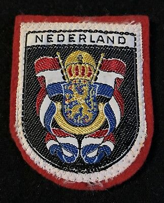 NEDERLAND Vintage Skiing Ski Patch NETHERLANDS Holland Souvenir Travel Ecusson